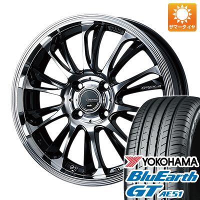 今がお得! 送料無料 205/45R17 17インチ サマータイヤ ホイール4本セット WEDS ウェッズ レオニス グレイラβ 6.5J 6.50-17 YOKOHAMA ブルーアース GT AE51