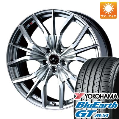 今がお得! 送料無料 225/40R19 19インチ サマータイヤ ホイール4本セット WEDS ウェッズ レオニス LV限定 7.5J 7.50-19 YOKOHAMA ブルーアース GT AE51