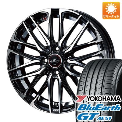 今がお得! 送料無料 155/65R14 14インチ サマータイヤ ホイール4本セット WEDS ウェッズ レオニス SK 4.5J 4.50-14 YOKOHAMA ブルーアース GT AE51