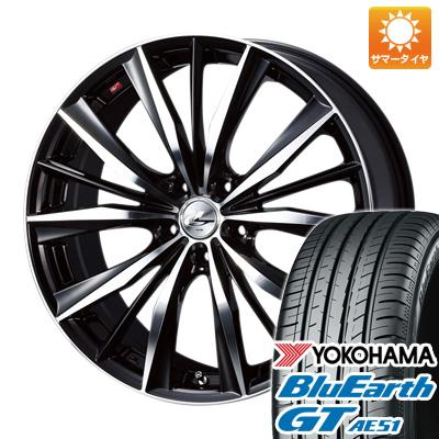 今がお得! 送料無料 215/45R17 17インチ サマータイヤ ホイール4本セット WEDS ウェッズ レオニス VX 7J 7.00-17 YOKOHAMA ブルーアース GT AE51
