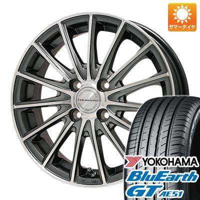 今がお得! 送料無料 185/55R16 16インチ サマータイヤ ホイール4本セット LEHRMEISTER LM-S FS15 (ガンメタポリッシュ) 6.5J 6.50-16 YOKOHAMA ブルーアース GT AE51