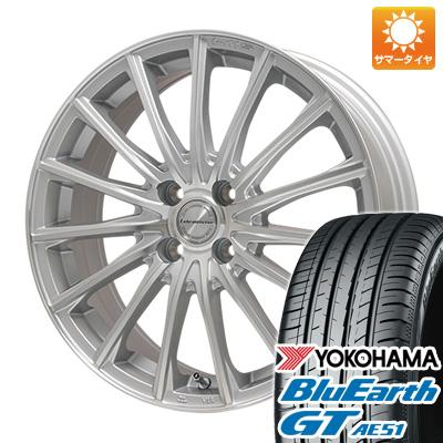 今がお得! 送料無料 185/55R16 16インチ サマータイヤ ホイール4本セット LEHRMEISTER LM-S FS15 (シルバーポリッシュ) 6.5J 6.50-16 YOKOHAMA ブルーアース GT AE51