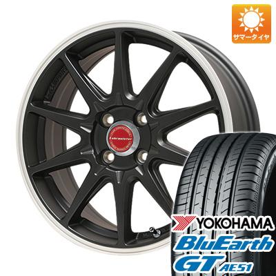 今がお得! 送料無料 185/55R15 15インチ サマータイヤ ホイール4本セット LEHRMEISTER レアマイスター LMスポーツRS10(マットブラックリムポリッシュ) 6J 6.00-15 YOKOHAMA ブルーアース GT AE51