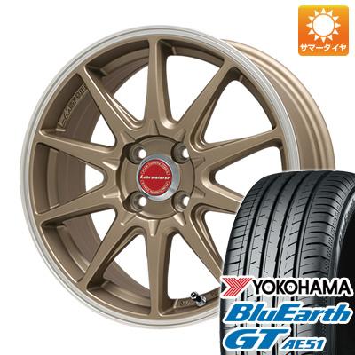 今がお得! 送料無料 185/55R16 16インチ サマータイヤ ホイール4本セット LEHRMEISTER レアマイスター LMスポーツRS10(マットブロンズリムポリッシュ) 6.5J 6.50-16 YOKOHAMA ブルーアース GT AE51
