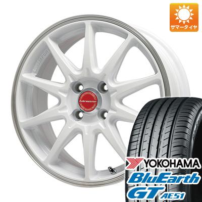 今がお得! 送料無料 185/55R16 16インチ サマータイヤ ホイール4本セット LEHRMEISTER レアマイスター LMスポーツRS10(ホワイト/リムポリッシュ) 6.5J 6.50-16 YOKOHAMA ブルーアース GT AE51