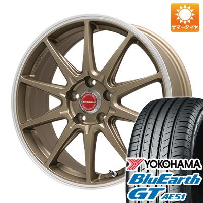 今がお得! 送料無料 205/50R17 17インチ サマータイヤ ホイール4本セット LEHRMEISTER レアマイスター LMスポーツRS10(マットブロンズリムポリッシュ) 7.5J 7.50-17 YOKOHAMA ブルーアース GT AE51