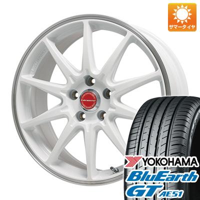 今がお得! 送料無料 215/40R18 18インチ サマータイヤ ホイール4本セット LEHRMEISTER レアマイスター LMスポーツRS10(ホワイト/リムポリッシュ) 7.5J 7.50-18 YOKOHAMA ブルーアース GT AE51