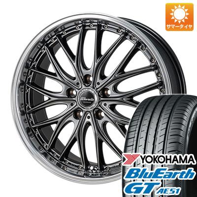 今がお得! 送料無料 215/45R17 17インチ サマータイヤ ホイール4本セット MONZA モンツァ ワーウィック ディープランド 7J 7.00-17 YOKOHAMA ブルーアース GT AE51