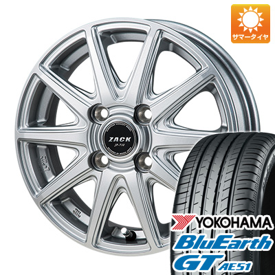今がお得! 送料無料 175/65R14 14インチ サマータイヤ ホイール4本セット MONZA モンツァ ZACK JP-710 5.5J 5.50-14 YOKOHAMA ブルーアース GT AE51
