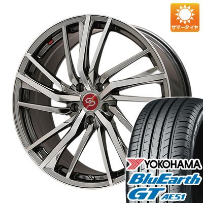 今がお得! 送料無料 235/45R18 18インチ サマータイヤ ホイール4本セット PREMIX プレミックス ドルチェ3x5(BMCポリッシュ) 8J 8.00-18 YOKOHAMA ブルーアース GT AE51