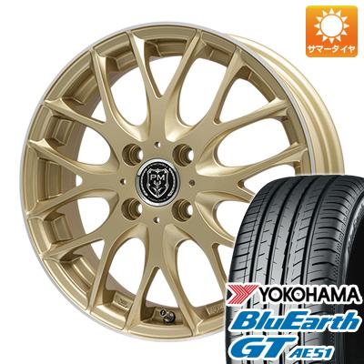 今がお得! 送料無料 165/55R15 15インチ サマータイヤ ホイール4本セット PREMIX プレミックス グラッパ(ゴールド/リムポリッシュ) 4.5J 4.50-15 YOKOHAMA ブルーアース GT AE51