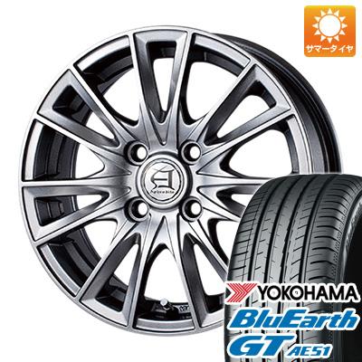 今がお得! 送料無料 155/65R14 14インチ サマータイヤ ホイール4本セット TECHNOPIA テクノピア アフロディーテ EF 4.5J 4.50-14 YOKOHAMA ブルーアース GT AE51