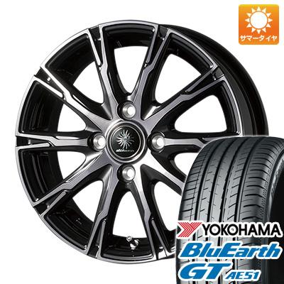 今がお得! 送料無料 185/55R15 15インチ サマータイヤ ホイール4本セット TOPY トピー ディルーチェ DX10 5.5J 5.50-15 YOKOHAMA ブルーアース GT AE51