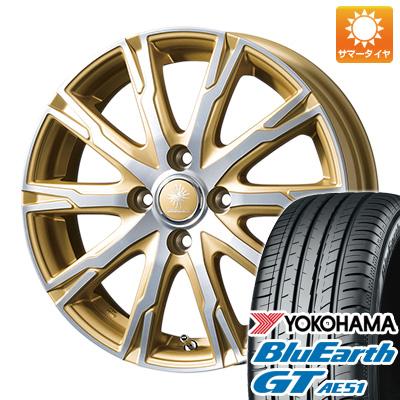 今がお得! 送料無料 165/55R15 15インチ サマータイヤ ホイール4本セット TOPY トピー ディルーチェ DX10 4.5J 4.50-15 YOKOHAMA ブルーアース GT AE51