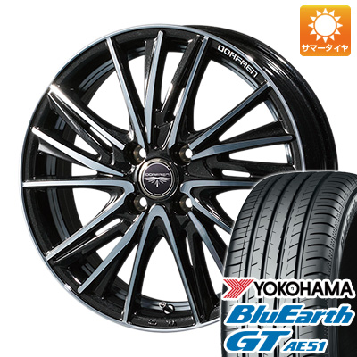 今がお得! 送料無料 185/60R15 15インチ サマータイヤ ホイール4本セット TOPY トピー ドルフレン ビゲープ 5.5J 5.50-15 YOKOHAMA ブルーアース GT AE51