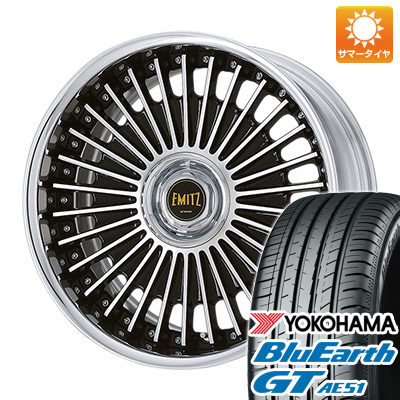 今がお得! 送料無料 245/35R19 19インチ サマータイヤ ホイール4本セット WORK ワーク イミッツ イミッツ 8J 8.00-19 YOKOHAMA ブルーアース GT AE51