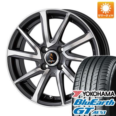 今がお得! 送料無料 185/55R15 15インチ サマータイヤ ホイール4本セット WORK ワーク セプティモ G01 ダークグレーポリッシュ 5.5J 5.50-15 YOKOHAMA ブルーアース GT AE51