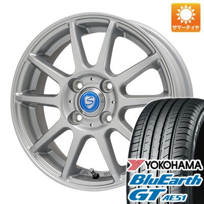 今がお得! 送料無料 185/60R15 15インチ サマータイヤ ホイール4本セット BRANDLE ブランドル 302 5.5J 5.50-15 YOKOHAMA ブルーアース GT AE51