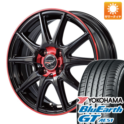 今がお得! 送料無料 175/65R15 15インチ サマータイヤ ホイール4本セット MID ファイナルスピード GR-ボルト 5.5J 5.50-15 YOKOHAMA ブルーアース GT AE51