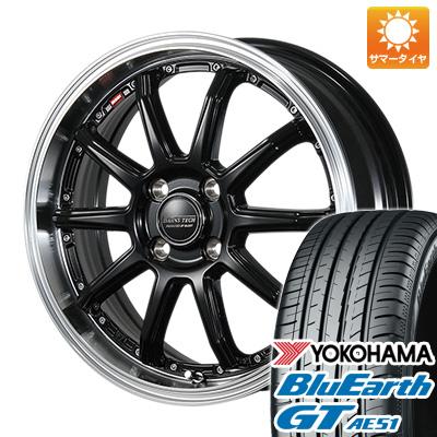 今がお得! 送料無料 205/50R17 17インチ サマータイヤ ホイール4本セット BLEST ブレスト バーンズテック S10-DP 7J 7.00-17 YOKOHAMA ブルーアース GT AE51