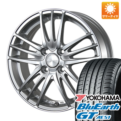 今がお得! 送料無料 185/55R16 16インチ サマータイヤ ホイール4本セット BRIDGESTONE ブリヂストン エコフォルム CRS/18 6J 6.00-16 YOKOHAMA ブルーアース GT AE51