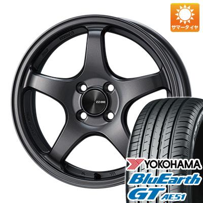 今がお得! 送料無料 225/55R17 17インチ サマータイヤ ホイール4本セット ENKEI エンケイ PF05 7J 7.00-17 YOKOHAMA ブルーアース GT AE51