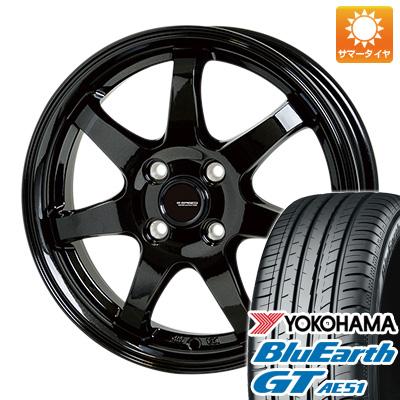 今がお得! 送料無料 155/65R14 14インチ サマータイヤ ホイール4本セット HOT STUFF ホットスタッフ ジースピード G-03 4.5J 4.50-14 YOKOHAMA ブルーアース GT AE51