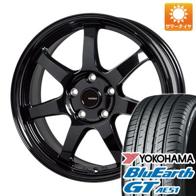 今がお得! 送料無料 205/50R17 17インチ サマータイヤ ホイール4本セット HOT STUFF ホットスタッフ ジースピード G-03 7J 7.00-17 YOKOHAMA ブルーアース GT AE51