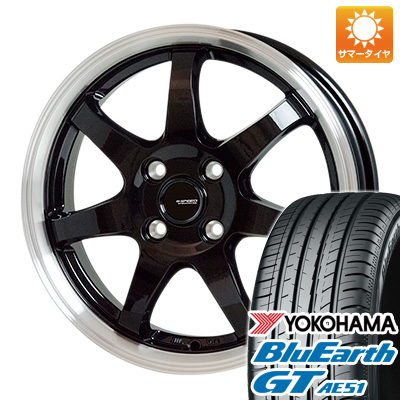 今がお得! 送料無料 195/50R16 16インチ サマータイヤ ホイール4本セット HOT STUFF ホットスタッフ ジースピード P-03 6J 6.00-16 YOKOHAMA ブルーアース GT AE51