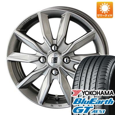 今がお得! 送料無料 175/65R15 15インチ サマータイヤ ホイール4本セット KYOHO 共豊 キョウホウ ザインSV 5.5J 5.50-15 YOKOHAMA ブルーアース GT AE51