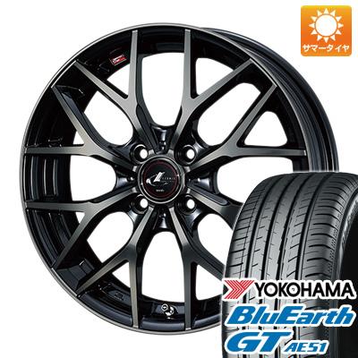 今がお得! 送料無料 155/65R14 14インチ サマータイヤ ホイール4本セット WEDS ウェッズ レオニス MX 4.5J 4.50-14 YOKOHAMA ブルーアース GT AE51