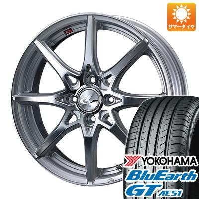 今がお得! 送料無料 185/65R15 15インチ サマータイヤ ホイール4本セット WEDS ウェッズ レオニス SV 5.5J 5.50-15 YOKOHAMA ブルーアース GT AE51