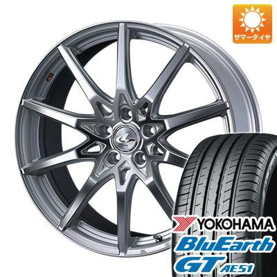 今がお得! 送料無料 235/45R18 18インチ サマータイヤ ホイール4本セット WEDS ウェッズ レオニス SV 8J 8.00-18 YOKOHAMA ブルーアース GT AE51