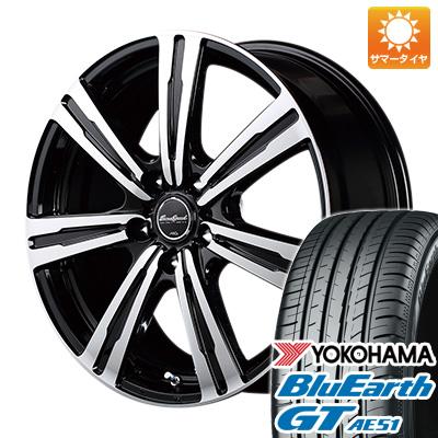 今がお得! 送料無料 225/40R18 18インチ サマータイヤ ホイール4本セット MID ユーロスピード BC-7 7.5J 7.50-18 YOKOHAMA ブルーアース GT AE51