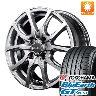 今がお得! 送料無料 155/65R14 14インチ サマータイヤ ホイール4本セット MID ユーロスピード G52 4.5J 4.50-14 YOKOHAMA ブルーアース GT AE51