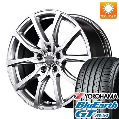 今がお得! 送料無料 225/45R18 18インチ サマータイヤ ホイール4本セット MID ユーロスピード G52 8J 8.00-18 YOKOHAMA ブルーアース GT AE51