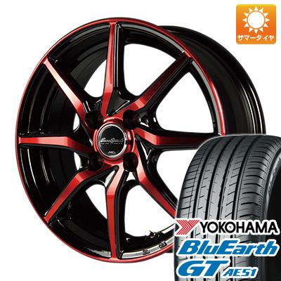 今がお得! 送料無料 185/60R15 15インチ サマータイヤ ホイール4本セット MID ユーロスピード S810 5.5J 5.50-15 YOKOHAMA ブルーアース GT AE51