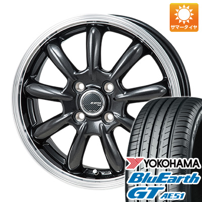 【取付対象】 送料無料 175/65R15 15インチ サマータイヤ ホイール4本セット MONZA モンツァ JPスタイル バーニー 5.5J 5.50-15 YOKOHAMA ブルーアース GT AE51