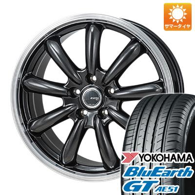 今がお得! 送料無料 215/55R17 17インチ サマータイヤ ホイール4本セット MONZA モンツァ JPスタイル バーニー 7J 7.00-17 YOKOHAMA ブルーアース GT AE51
