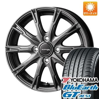 今がお得! 送料無料 155/65R14 14インチ サマータイヤ ホイール4本セット TOPY トピー アザーネ E10 4.5J 4.50-14 YOKOHAMA ブルーアース GT AE51