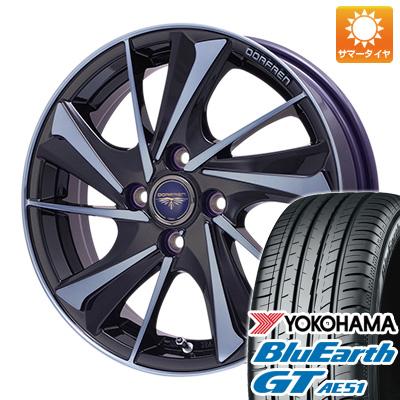 今がお得! 送料無料 165/55R15 15インチ サマータイヤ ホイール4本セット TOPY トピー ドルフレン ヴァルネ Limited 4.5J 4.50-15 YOKOHAMA ブルーアース GT AE51