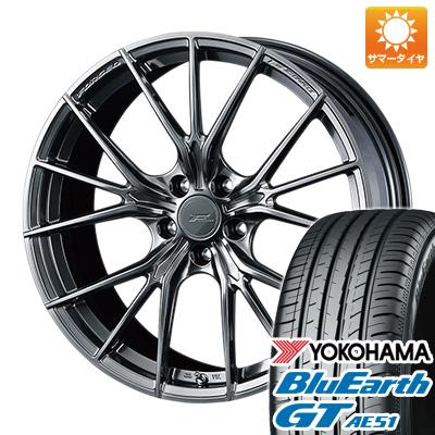 今がお得! 送料無料 225/40R19 19インチ サマータイヤ ホイール4本セット WEDS ウェッズ F-ZERO FZ-1 8J 8.00-19 YOKOHAMA ブルーアース GT AE51