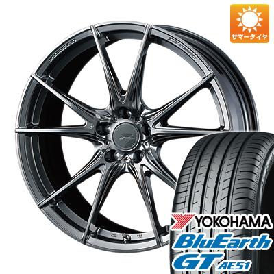 今がお得! 送料無料 225/40R19 19インチ サマータイヤ ホイール4本セット WEDS ウェッズ F-ZERO FZ-2 8J 8.00-19 YOKOHAMA ブルーアース GT AE51