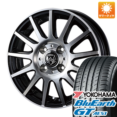 今がお得! 送料無料 185/65R15 15インチ サマータイヤ ホイール4本セット WEDS ウェッズ ライツレー KG 5.5J 5.50-15 YOKOHAMA ブルーアース GT AE51