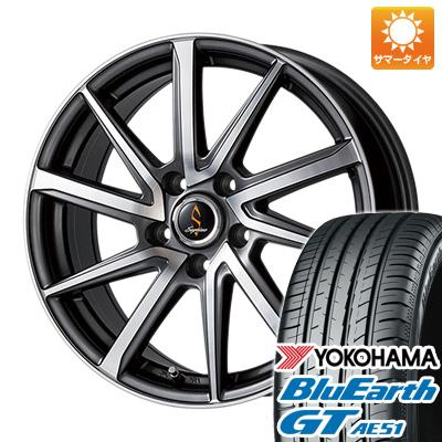 今がお得! 送料無料 195/55R16 16インチ サマータイヤ ホイール4本セット WORK ワーク セプティモ G01 ダークグレーポリッシュ 6.5J 6.50-16 YOKOHAMA ブルーアース GT AE51