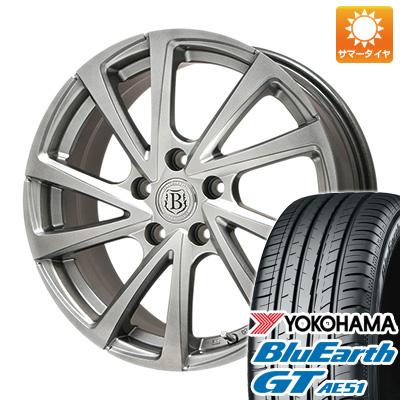 今がお得! 送料無料 185/55R16 16インチ サマータイヤ ホイール4本セット BRANDLE ブランドル E04 6.5J 6.50-16 YOKOHAMA ブルーアース GT AE51