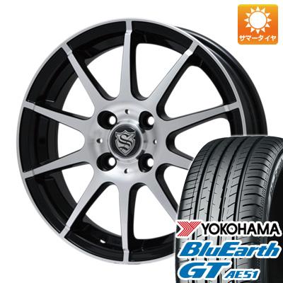 今がお得! 送料無料 155/65R14 14インチ サマータイヤ ホイール4本セット BRANDLE ブランドル 562B 4.5J 4.50-14 YOKOHAMA ブルーアース GT AE51