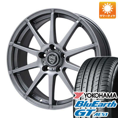 【取付対象】 送料無料 195/50R16 16インチ サマータイヤ ホイール4本セット BRANDLE ブランドル 562 6.5J 6.50-16 YOKOHAMA ブルーアース GT AE51