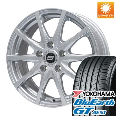 今がお得! 送料無料 225/50R17 17インチ サマータイヤ ホイール4本セット BRANDLE ブランドル M71 7J 7.00-17 YOKOHAMA ブルーアース GT AE51