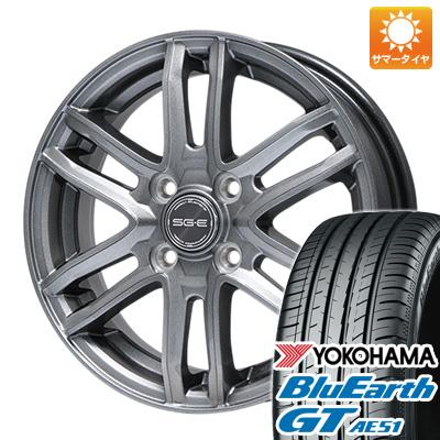今がお得! 送料無料 175/65R14 14インチ サマータイヤ ホイール4本セット BRANDLE ブランドル G61 5.5J 5.50-14 YOKOHAMA ブルーアース GT AE51